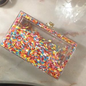 Limited edition acrylic sprinkles clutch ICE CREAM